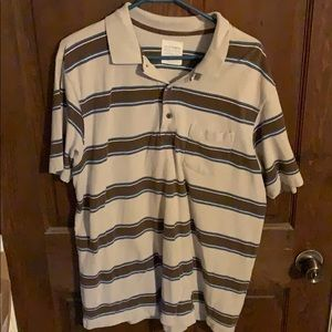 Mens Large Old Navy Striped Polo Shirt